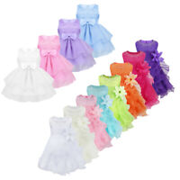 Baby Princess Dress Christening Formal Gown Party Wedding Flower Girl Tutu Dress