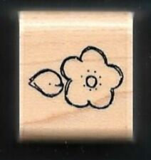 FLOWER CUPCAKE CANDY TOPPING DECOR New JRL DESIGN CTMH wood mount RUBBER STAMP