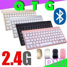 2.4G Bluetooth Extradünn Kabellose Tastatur Maus Set Tragbar Keyboard Mouse Büro