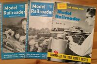 Model Railroader Mag Three Vintage Issues Sept. '52 Oct. '52 Mar. 57 Track Plans