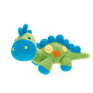 PEBBLEDinosaur Rattle - Steggy Green