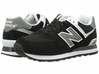 NEW BALANCE Mens 'M574' Black Gray White Sneakers Sz 7.5-15 D NEW! 229776