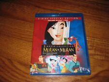 Mulan and Mulan II: Disney; Blu-ray & DVD] 2 Movie Pack Animated ]New+ Fast Ship