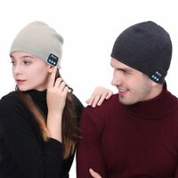 Bluetooth Hat Wireless Music Headset Headphone Beanie Cap Speaker Warm Smart Mic