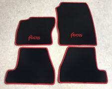 Autoteppich Fußmatten für Ford Focus 3 MK3 schwarz rot ab 2011' 4teilig  Neuware