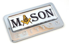 Mason Edition Chrome Emblem with domed decal Car Auto motorcycle bike Badge