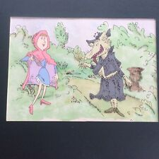 Roald Dahl Cartoon Celluloid Revolting Rhymes Fairy Tale Red Riding Hood & Wolf