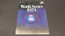 1979 World Series Pittsburgh vs Baltimore Program