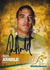 ✺Signed✺ 2016 WALLABIES Rugby Union Card RORY ARNOLD