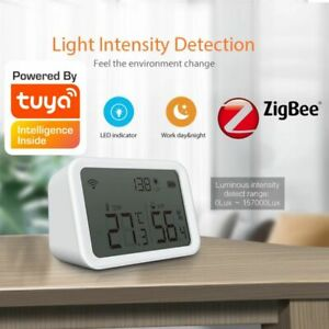 Zigbee Temperature Humidity Sensor Tuya Wireless Smart Control Sensor w/ Display