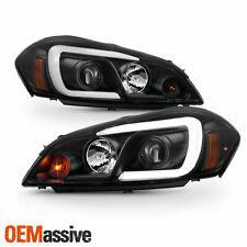 For 06 13 Chevy Impala 06 07 Monte Carlo Led C Tube Projector Black Headlights Fits 2006 Impala