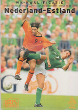 Programme / Programma Holland v Estonia 03-09-2001 World Cup 2002 Qualifier