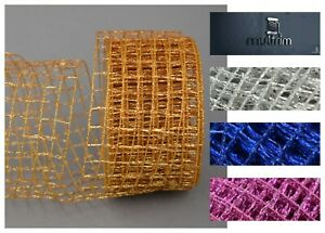Luxury Net Wire Mesh Ribbon Trimming Decorating Wedding Floral Wrapping Gift DIY