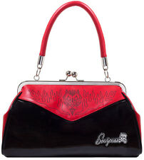 Sourpuss DEVIL PINSTRIPE Backseat Baby Pin Up Kisslock Bag TASCHE Rockabilly