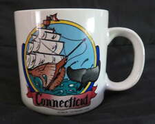 New CONNECTICUT Ceramic MUG Coffee Cocoa Travel Vintage Ship Whale Tail Cup