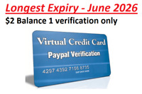 Longest Expiry ✅  VCC Virtual Credit Card Paypal Verification Work Worldwide ✅