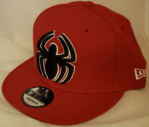 NWT NEW ERA Marvel SPIDERMAN XL logo 9FIFTY size adjustable snapback cap hat