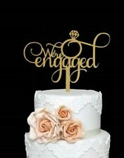 Cake Topper We're Engaged Wedding Bachelorette Party Decoration Bridal Shower