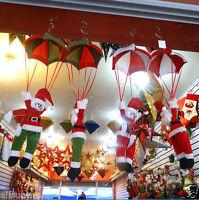 Santa Claus Snowman In Parachute Christmas Tree Hanging Ornament  Decoration
