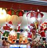 Santa Claus Snowman In Parachute Christmas Tree Hanging Ornament Xmas Decoration