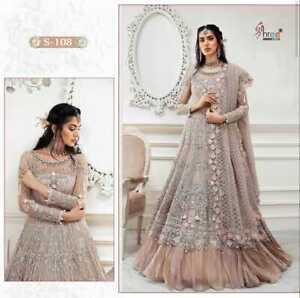 PAKISTANI WOMEN SALWAR KAMEEZ SUITS SHARARA PLAZZO BRIDAL WEDDING DESIGNER DRESS