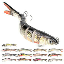 Fishing Bass Lure Multi Jointed Artificial Bait Segment Swimbait Lifelike A6F4