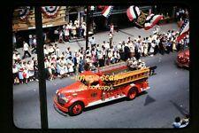 1947 Mont Alto Fire Truck at Waynesboro, Pennsylvania, Original Slide c1a
