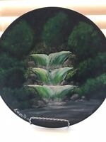 Hand painted 10 inch decorative plate by artist Karen Terry