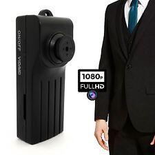 Botón Espía 1080P Cuerpo de Cámara DVR Video 2017 de grabación de audio de detección de movimiento