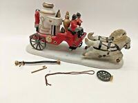 LEMAX Off To The Fire Village Collection Christmas Firefighters Truck 1996 VTG