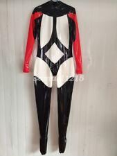 Latex Rubber Ganzanzug Gummi  Racing Suit Bodysuit Kostüm Catsuit Size XXS-XXL