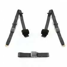 Ford 1957 - 1959 Airplane 3pt Charcoal Retractable Bench Seat Belt Kit - 3 Belts