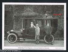 ADEL, 1911, König Georg von England, Ausfahrt Auto Oldtimer car voiture (70)
