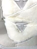 OSCAR ALPINE FASHION WHITE CALF FUR WOMEN BOOTS (Italy). Size 7. Christmas Gift!