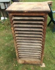 Antique Wood Print Type Cabinet 43 X 21 X 17 , 15 Pull Out Drawers 17 X 15 ,