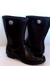 UGG SIENNA  Rain boots Black / Sheepskin insole US 8/ 39 New 1014452