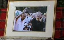 Palmer & Nicklaus - Framed & Matted Masters Photo - 16 X 20