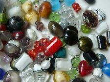 Lot de 10 Perles en verre Lampwork 12~22x14~32 mm, trou: 2~3 mm ;mixte