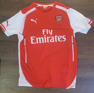 Soccer Jersey Sz MEDIUM Arsenal Fly Emirates Shirt Puma