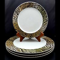 Studio Nova Jungle Beat 3 Dinner Plates 2 Salad Plates Leopard Tiger Animal Nice