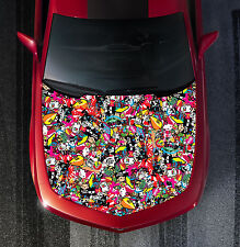 H117 STICKER BOMB Hood Wrap Wraps Decal Sticker Tint Vinyl Image Graphic