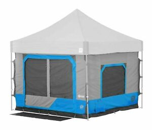 E-Z UP Camping Cube 6.4, Converts 10' Straight Leg Canopy into Camping Te... New