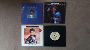 "Cliff Richard - 4 x 7"" Singles - Mistletoe & Wine, This New Year + 2 others"