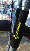 Bike Fahrrad Gabelschutz CUBE Neon Gelb Fork Protection Kettenstrebenschutz