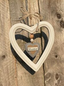 Home hanging sign White Heart