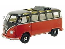 Schuco VW T1b Samba braun/rot 1:18