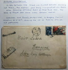 1940 Lwow Poland Russia USSR Registered Cover To Leva Hungary
