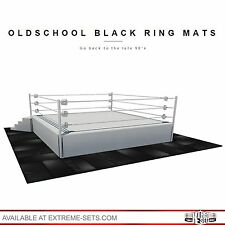 Oldschool Black Ring Mats, NOT WWE RAW, Mattel, Elite, Playset, Ring, Figure