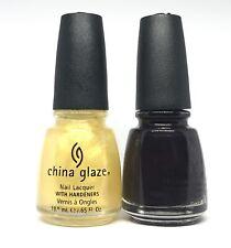 China Glaze Nail Polish Crystall Chandler 248 + Evening Seduction 256