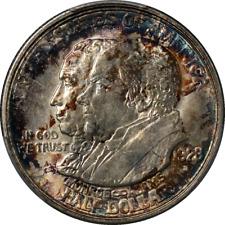 1923-S Monroe Commem Half Dollar PCGS MS64 Great Eye Appeal Strong Strike